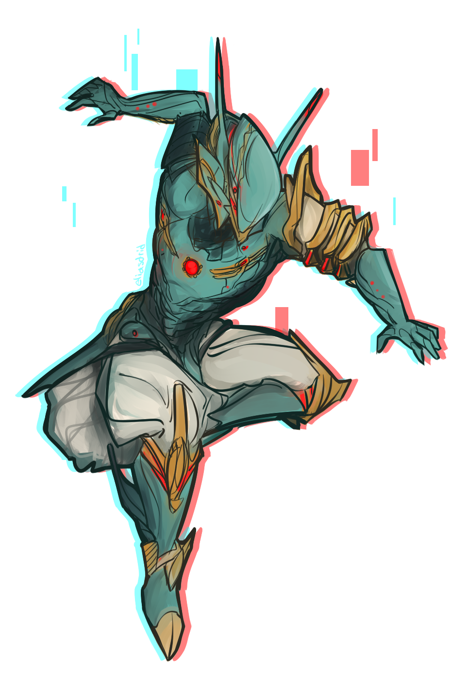 Catch me if you. Warframe drawing fan picture freeuse download