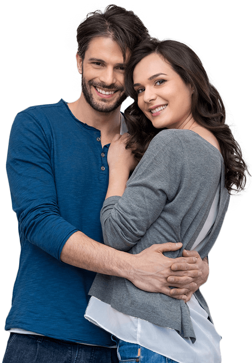 Warm touch couple png. Dentist chicago loop dentures