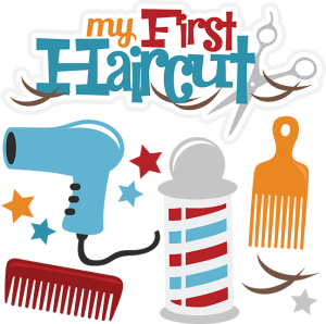 Warning clipart 1st. My first haircut boy