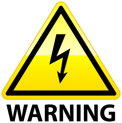 Warning clipart. High voltage png clip