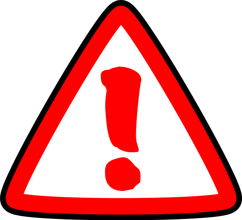 Caution vector. Atenci n warning clipart