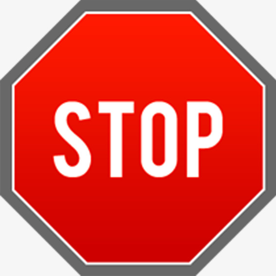 Warning clipart symptom. Octagon signs sign stop