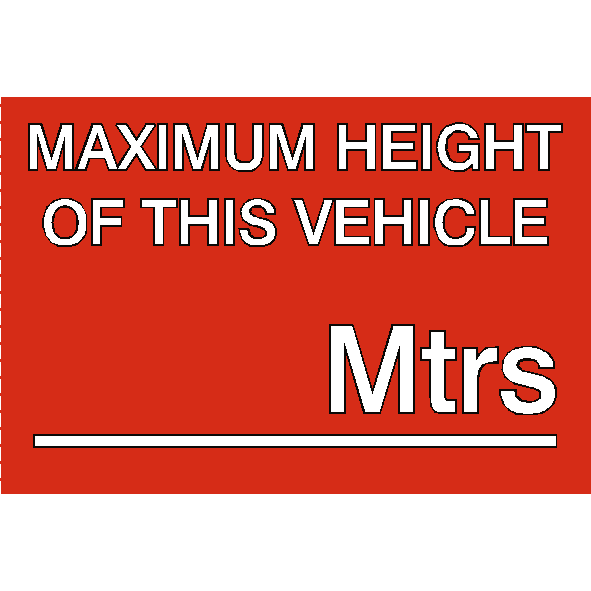 Warning labels pke meter png high def. Maximum height vehicle sticker