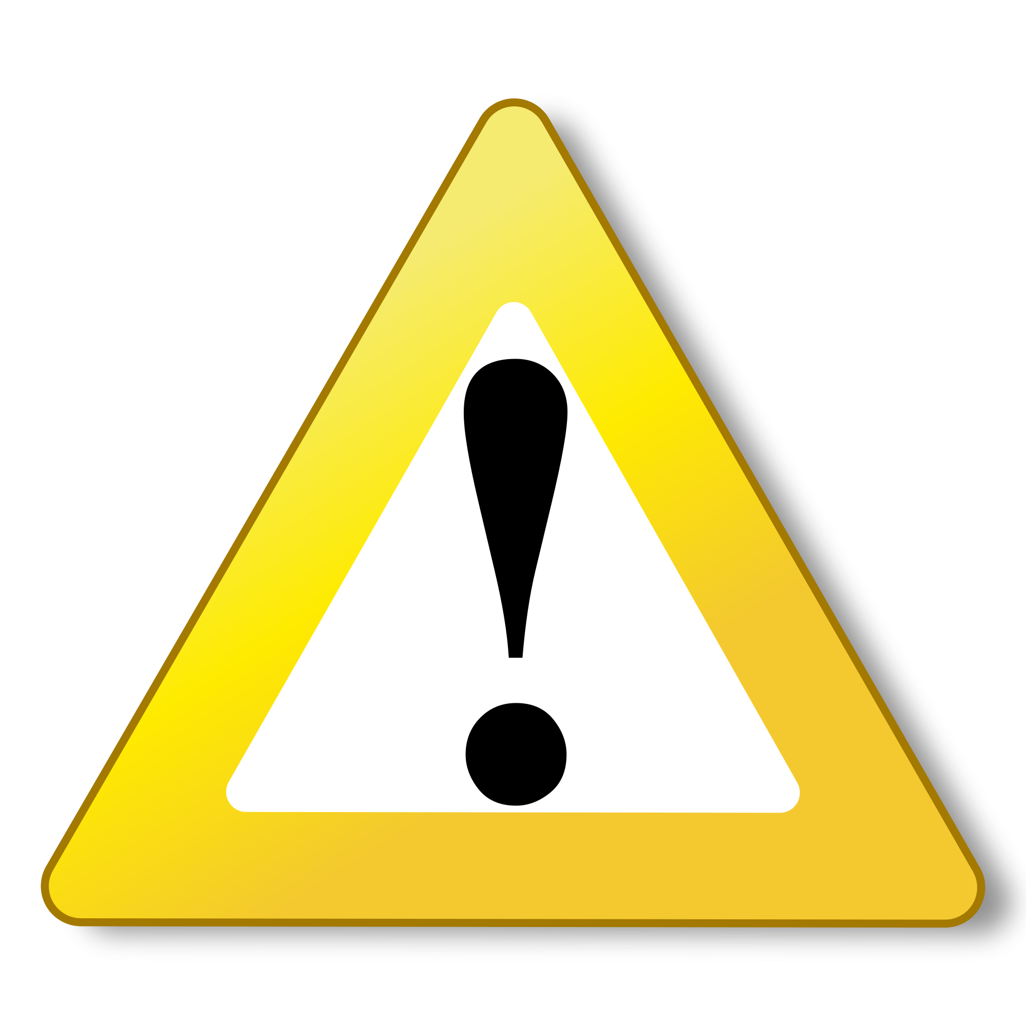 Warning png icon. Yellow free icons and