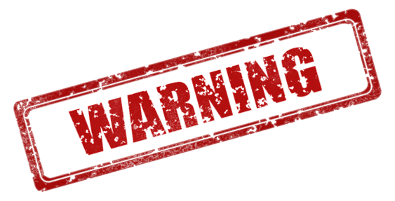 Warning stamp png. Content conscious my corner