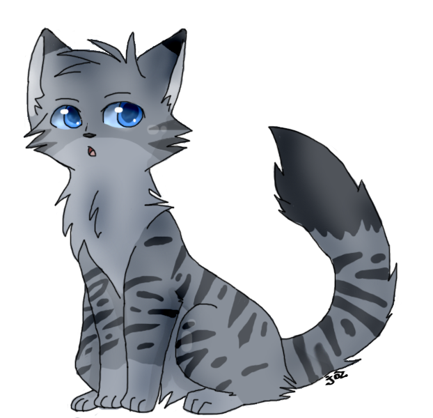 Warrior cats png. Image cat oc nightstripe