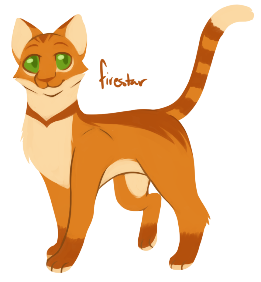 Warrior cats png. Challenge firestar by