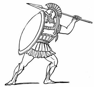 Warrior clipart soldier athenian. Helmets pinterest