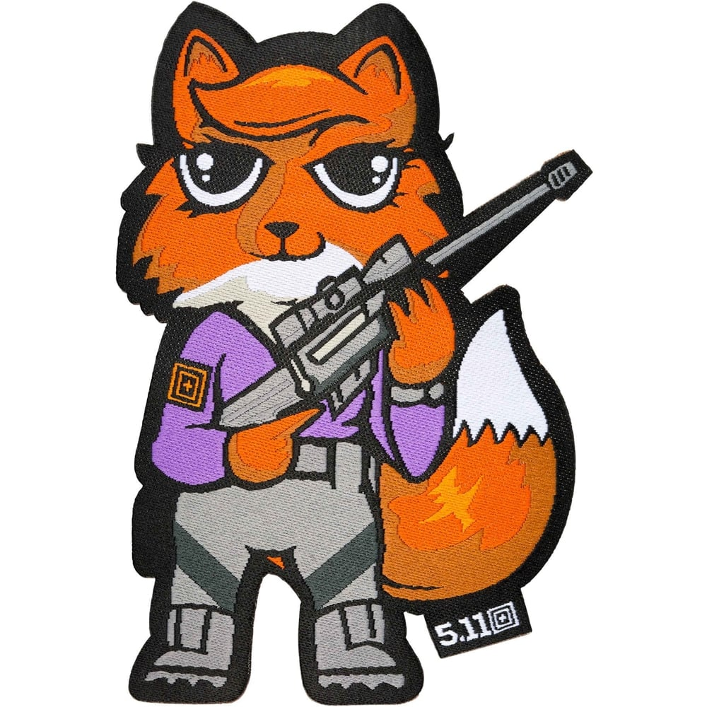 Warrior clipart tactical. Foxy morale patch