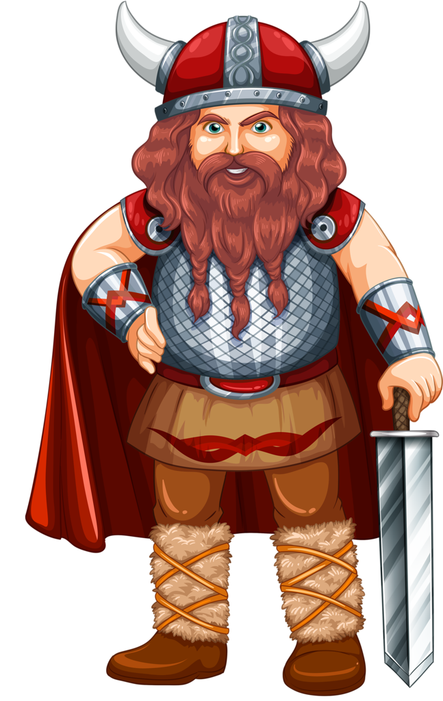Pin by montse m. Warrior clipart viking man royalty free