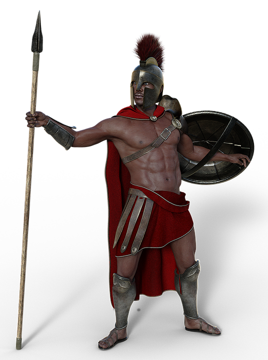 Warrior spear png. Free photo antique man