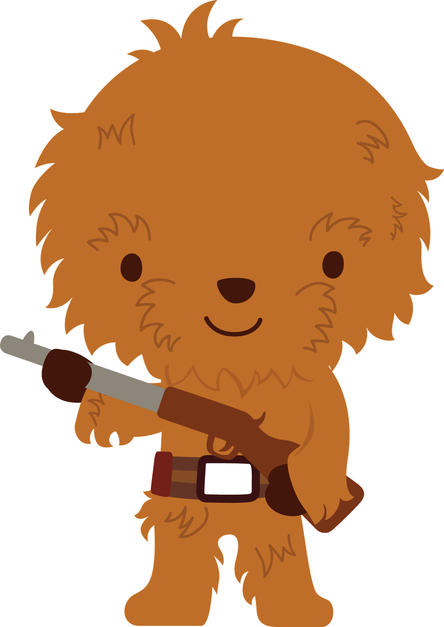 Star wars clipart png. Galaxy chewbacca animados pinterest