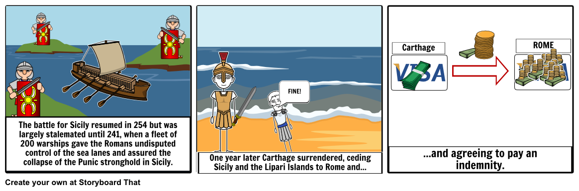 Wars clipart punic wars. War part storyboard by