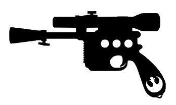 Wars clipart star wars gun. Amazon com han solo