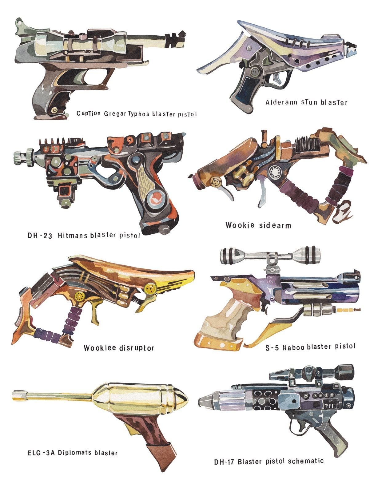 Wars clipart star wars gun. Holly exley illustration collections