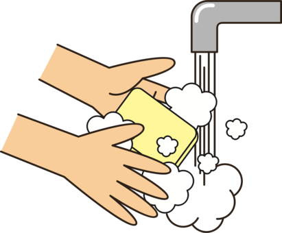 Wash drawing clean hand. Washing soap free commercial