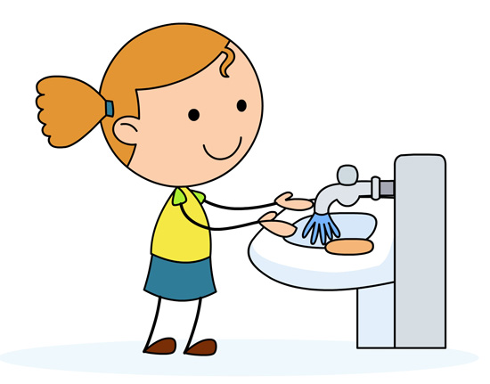 Washing clipart. Girl hands