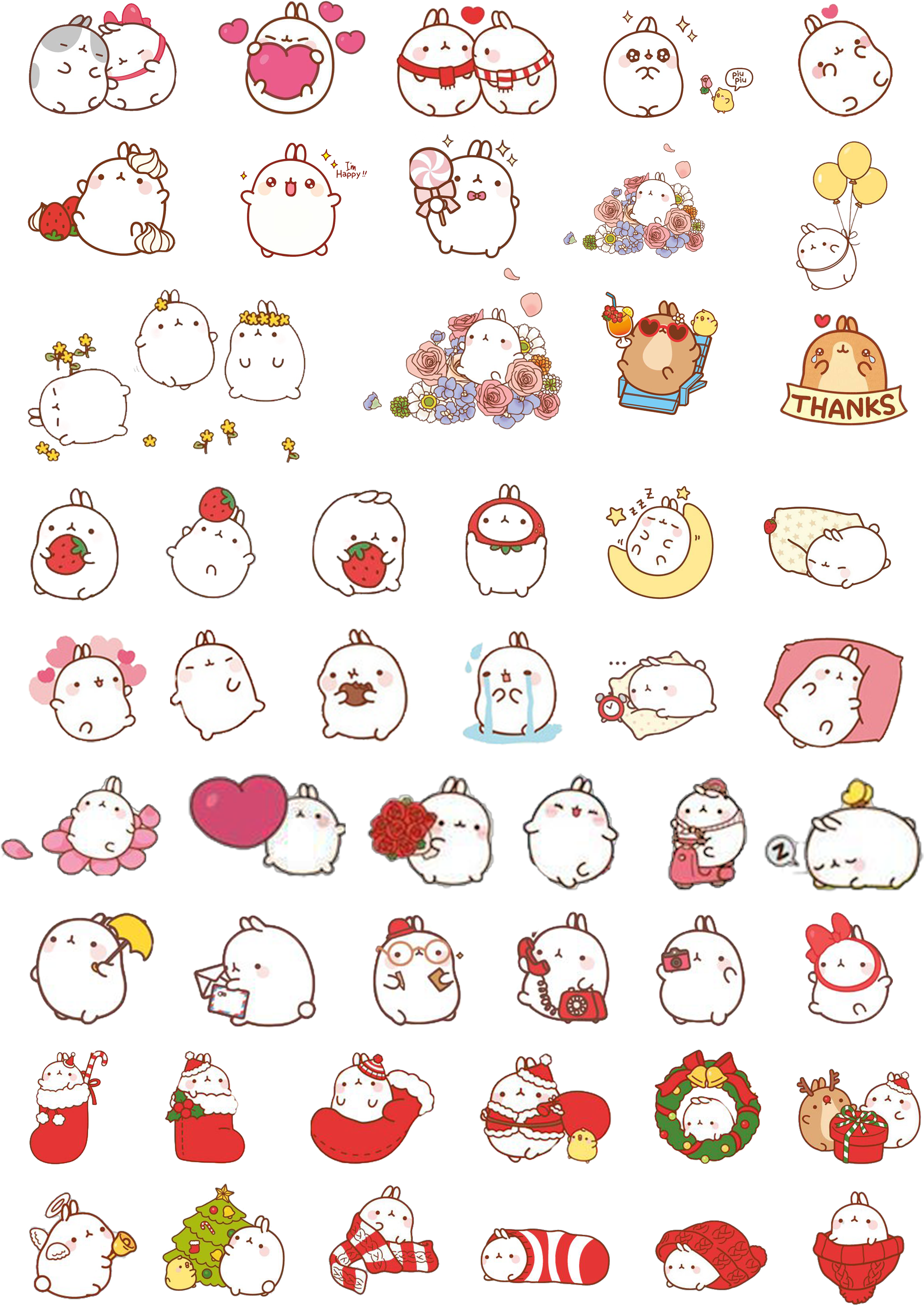 Molang transparent kawaii. Download hd jpg free