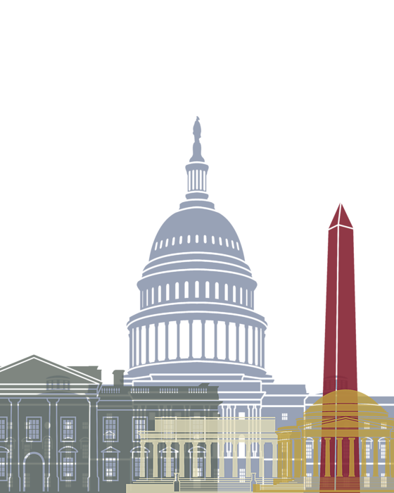 Poster t shirt for. Washington dc skyline png image library download