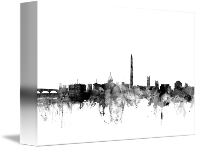 By michael tompsett . Washington dc skyline png graphic royalty free stock