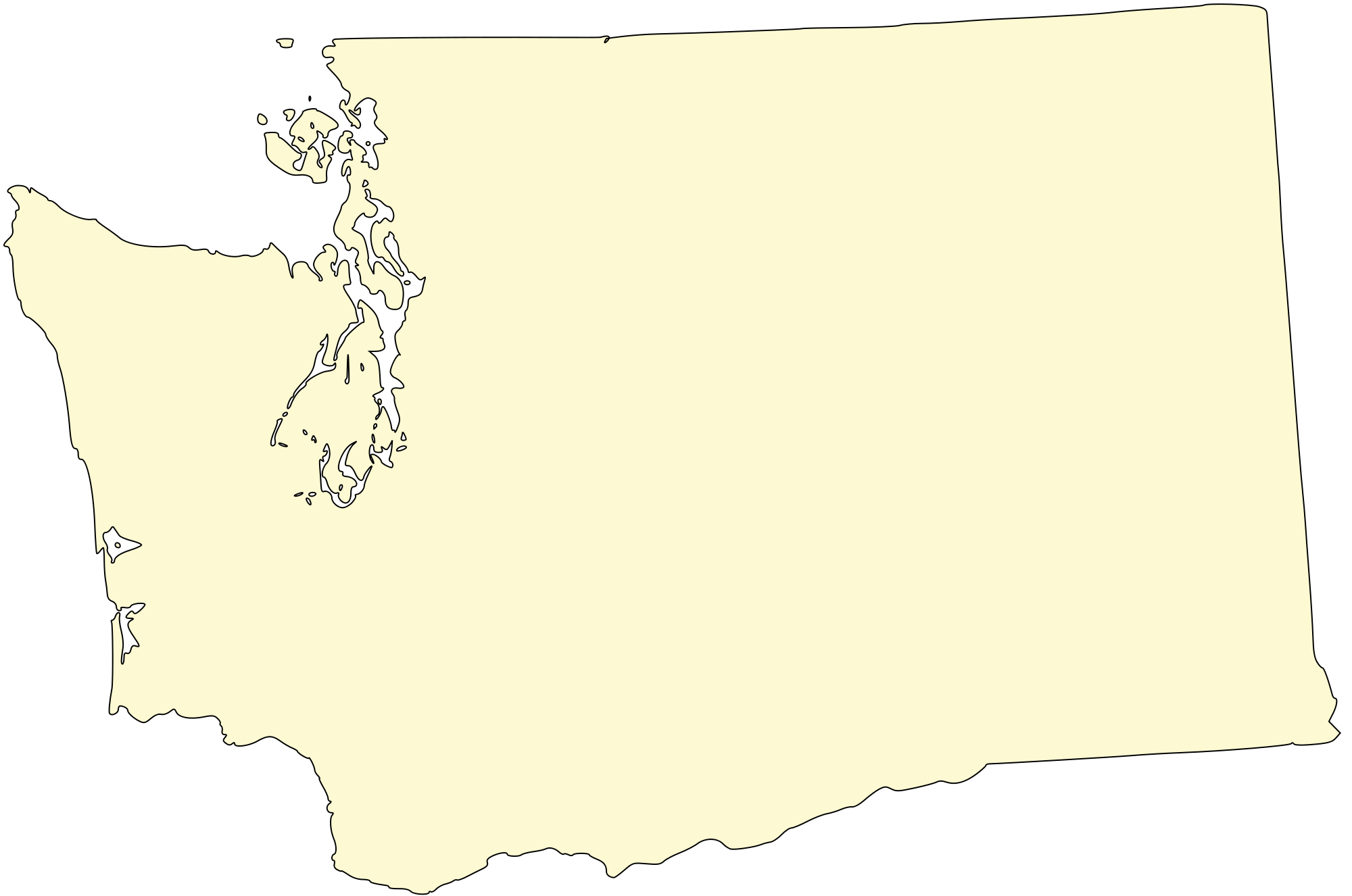 Washington state outline png. File map h svg