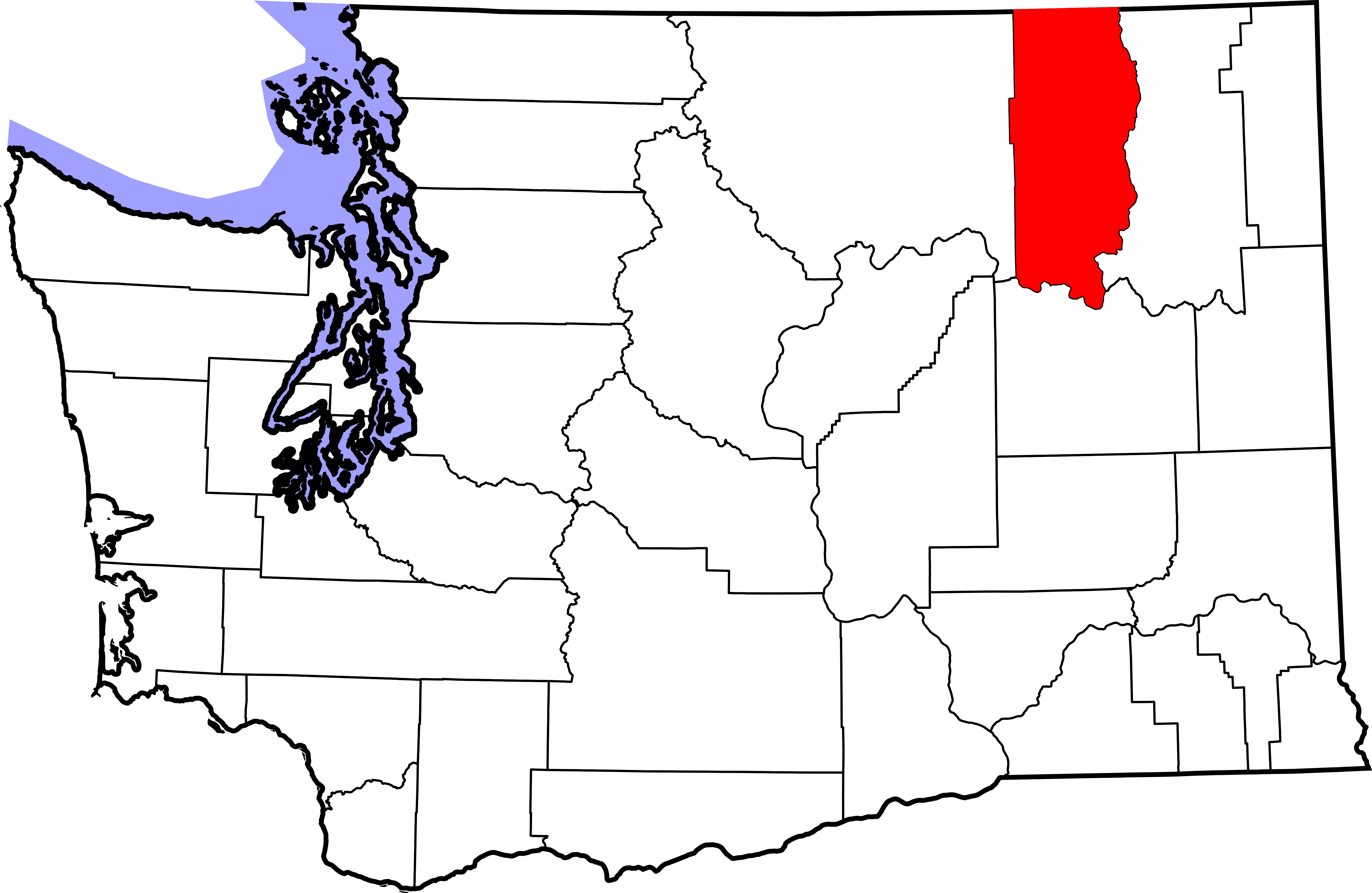 Washington state outline png. File map of highlighting