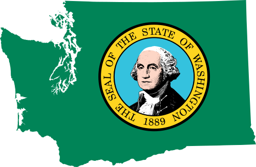 Washington vector state wa. File flag map of