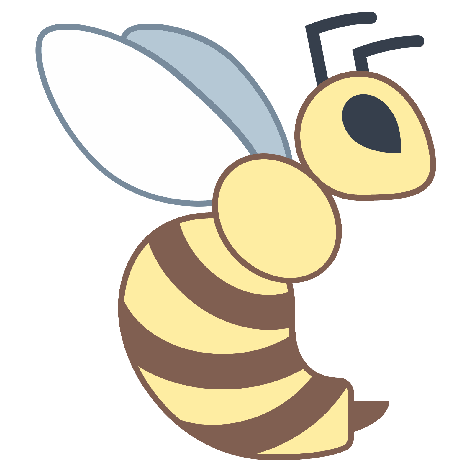 Wasp vector cartoon. Icon free download png