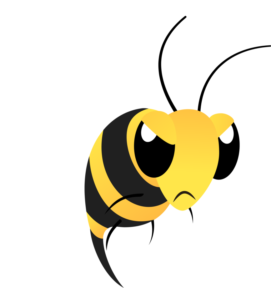 Wasp vector angry cartoon. Mlp resource bee by