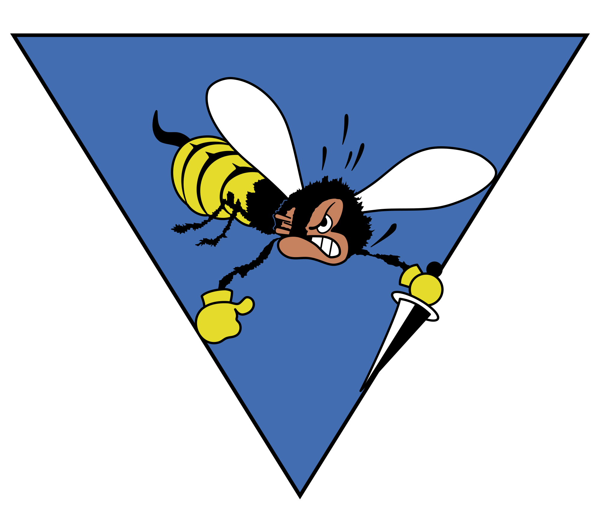Wasp vector angry cartoon. File ensign of the