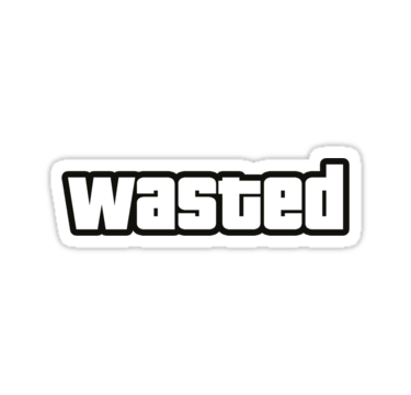 Wasted gta png. Avatan plus