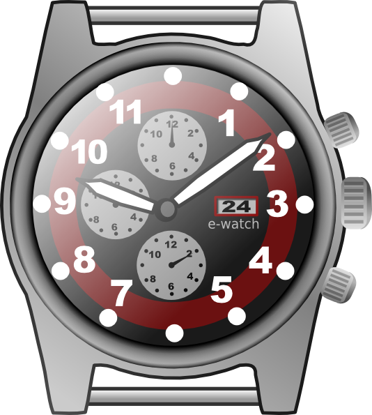 Chronograph art at clker. Watch clip small vector free library
