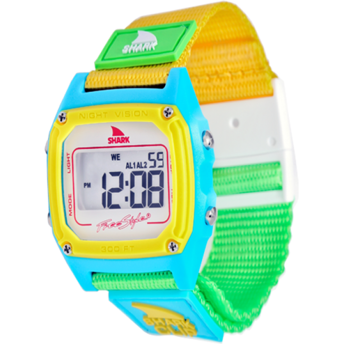Watch clip freestyle. Shark classic wht neon