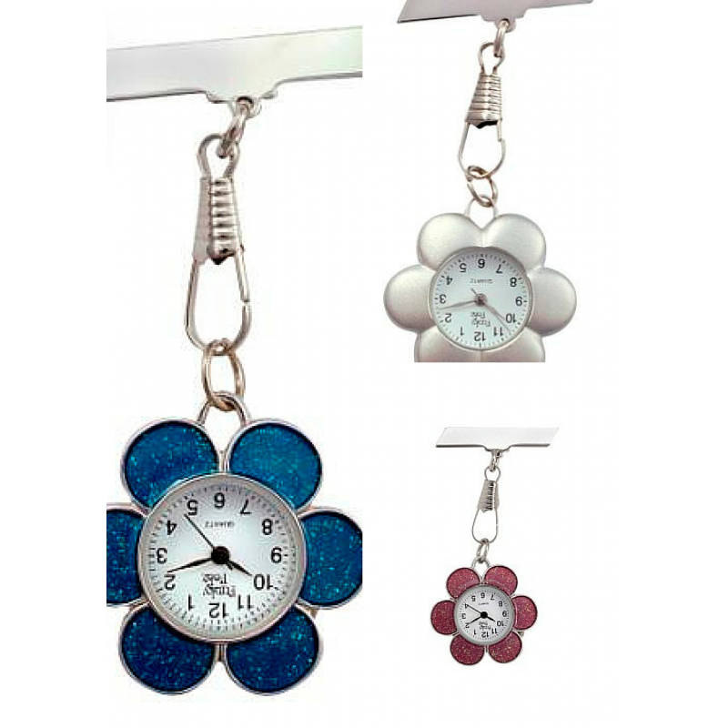 Watch clip lanyard. Funkyfobz flower fob