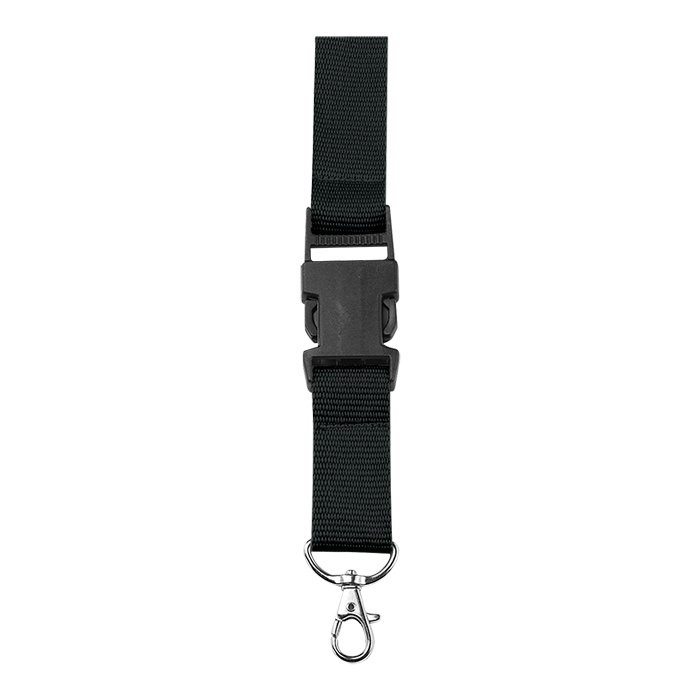Watch clip lanyard. Custom bk with safety