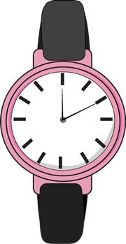 Watching clipart w be for. Wrist watch
