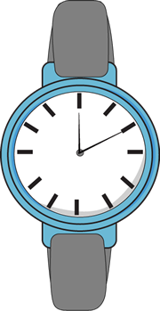 watch clipart blue watch