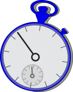 Watching clipart w be for. Stop watch blue clip