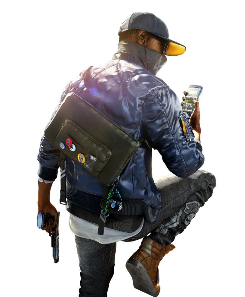 watch_dogs png man gun