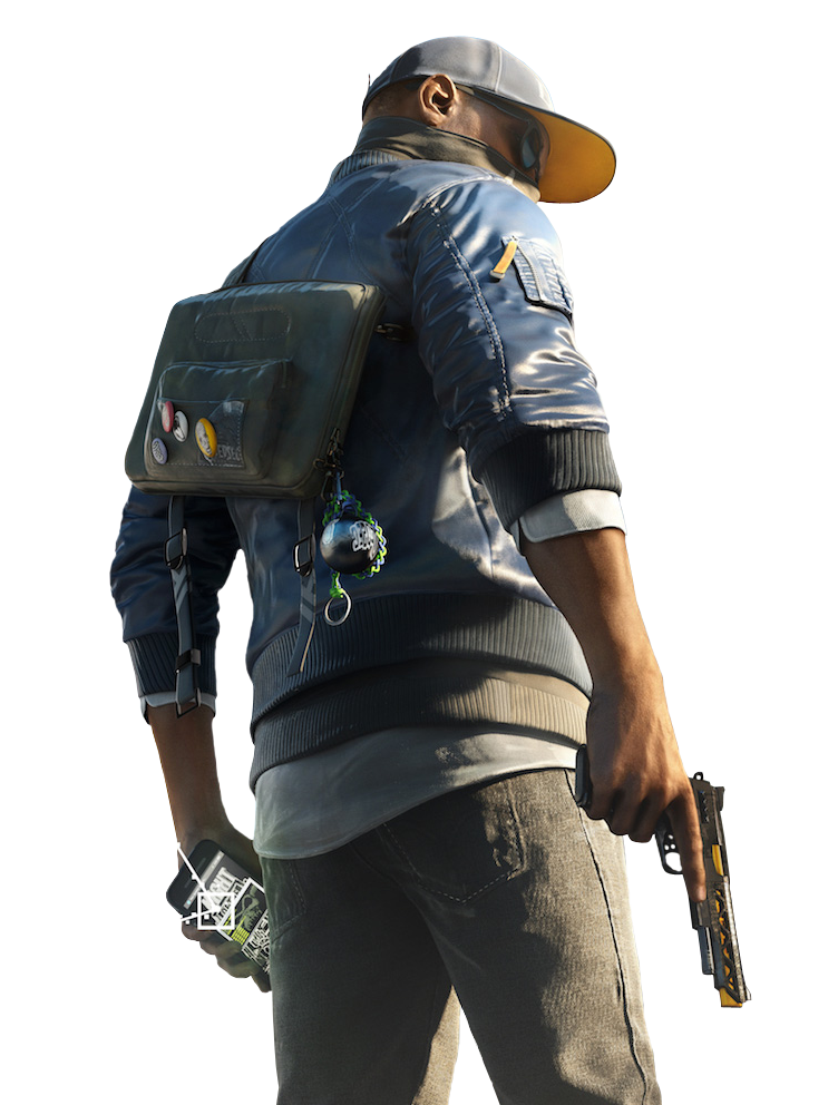 Watch dogs png. Marcus holloway render by