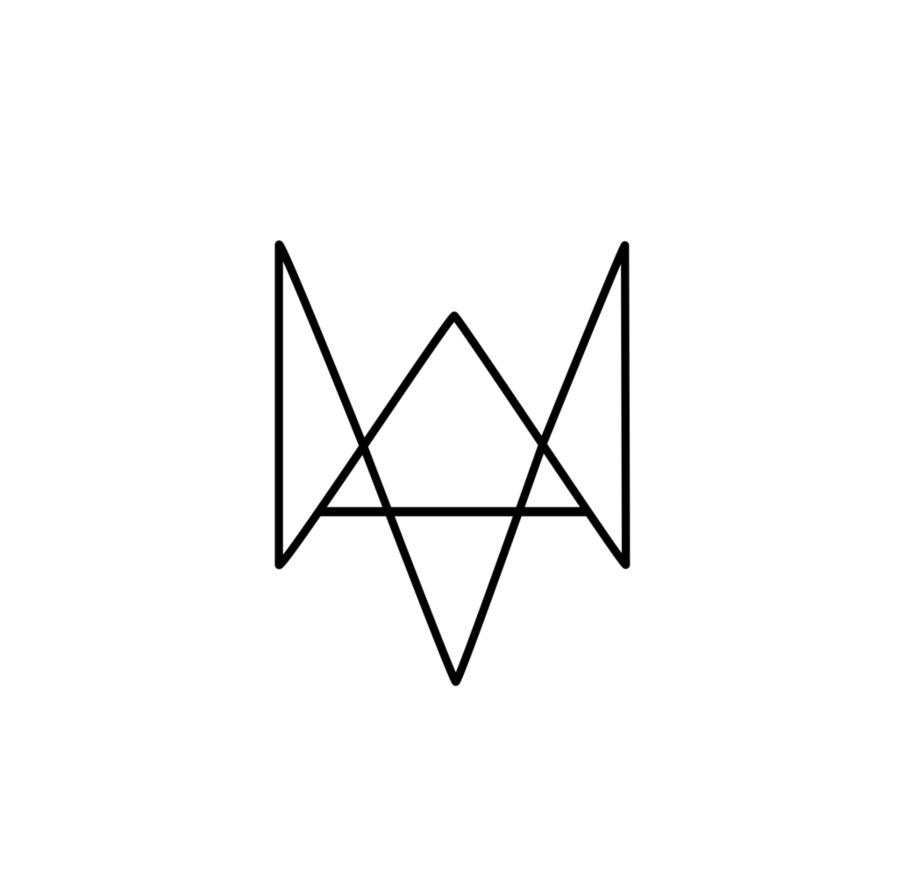 Dogs vector triangle. Watch logo by vadu