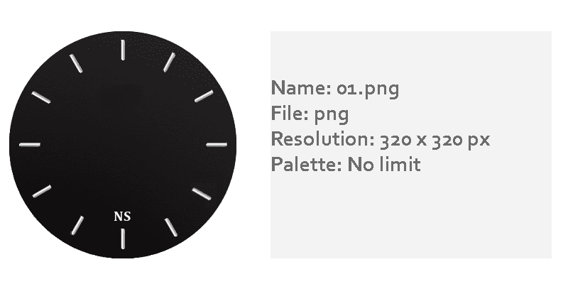 Watch face template png. How to make new