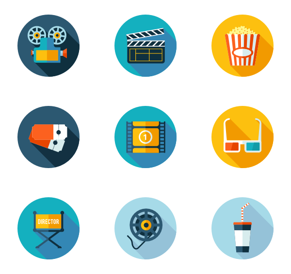 Watch png blue movies. Movie icon packs