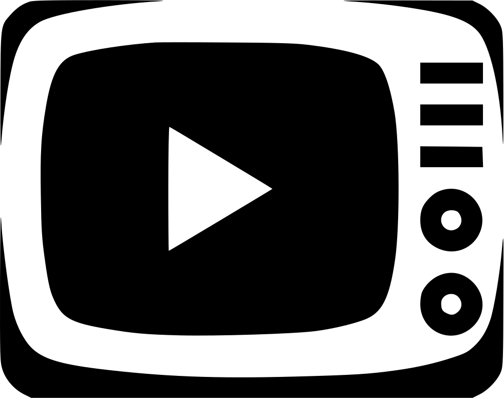 Watch video icon png. Television tv movie show