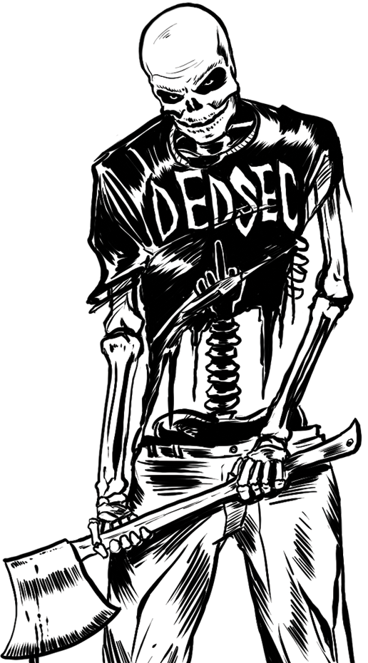 Watch dogs dedsec skeleton. Watch_dogs png art vector freeuse download