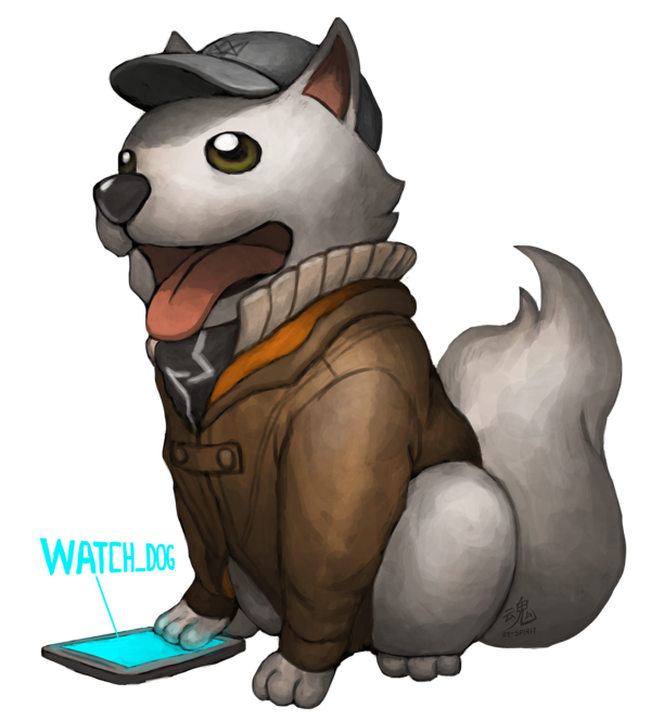 The dog that hacks. Watch_dogs png art vector transparent download