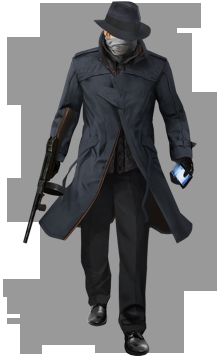 Watch_dogs png gangster character. Image costume watch dogs
