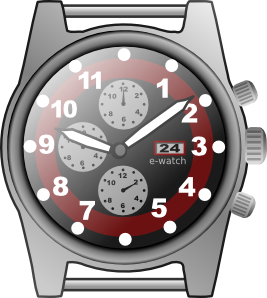 watching clipart chronograph