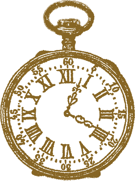 Watching clipart w be for. Victorian pocket watch illustration