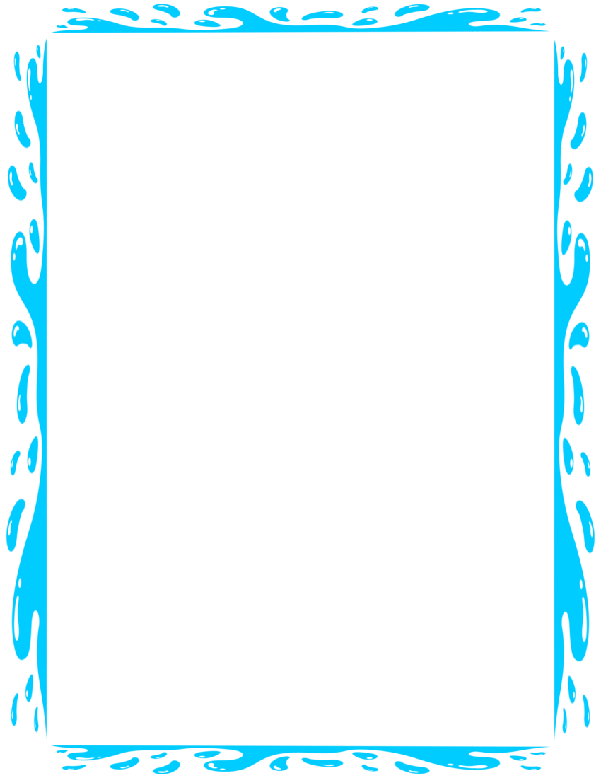 Water border png. Splashy page frames download